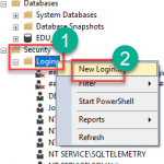Ms sql create login