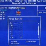 Advanced clock calibration bios