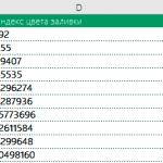 Excel формула если цвет ячейки то