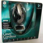 Logitech g7 laser cordless mouse green usb