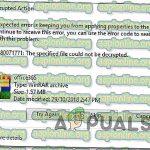 0X80071771 указанный файл не может быть расшифрован