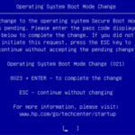 Operation system boot mode change