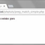 Php preg match регулярные выражения