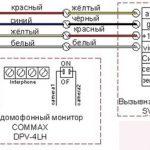 Commax схема подключения к вызывной панели