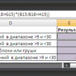 Excel сумма произведений двух столбцов