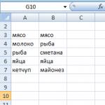 Excel сравнение двух столбцов на совпадение
